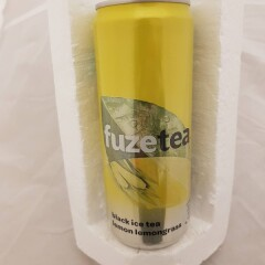 FUZE TEA Sidrunimaitseline sidrunheina ja musta tee ekstraktiga karboniseerimata teejook 330ml